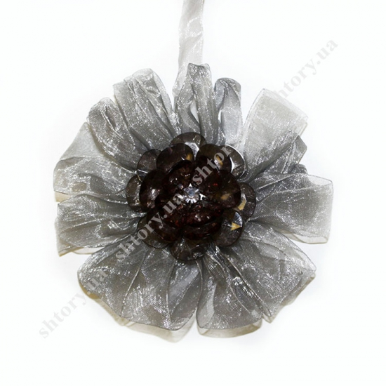Магнит цветок со стеклярусом