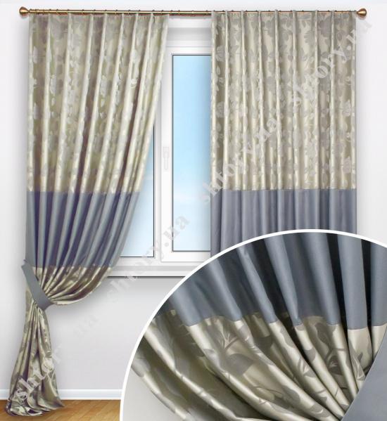 Комплект штор с цветочным рисунком