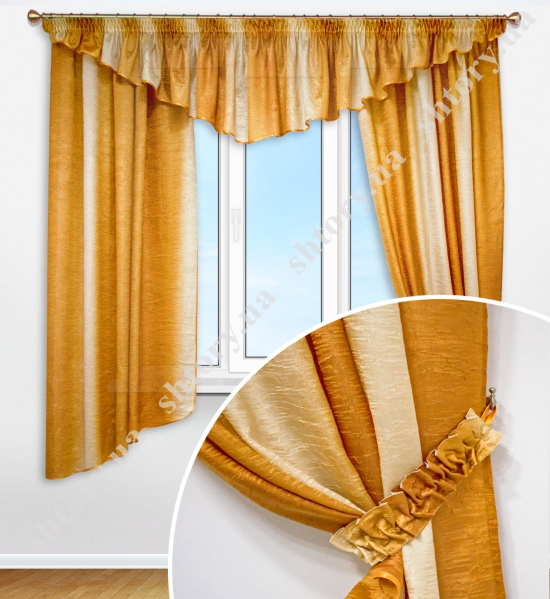 Комплект штор с ламбрекеном