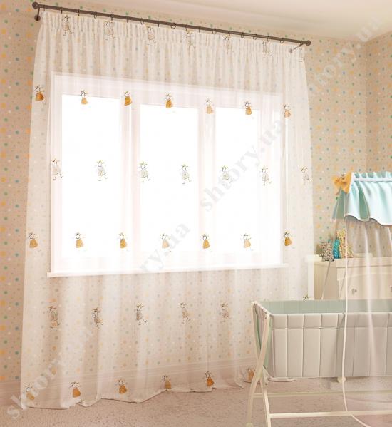 Тюль для детской 66005