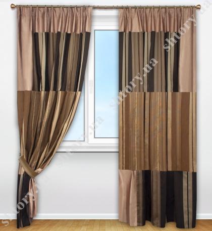 Комплект штор в стиле пэчворк