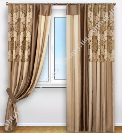 Комплект плотных дизайнерских штор