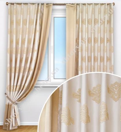 Комплект штор с классическим орнаментом
