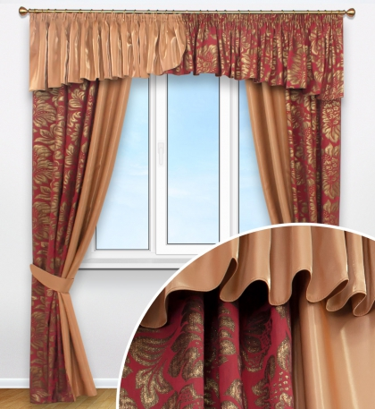 Комплект штор с объемным 3Д рисунком