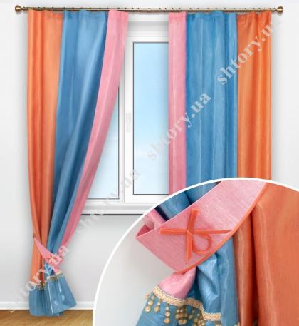 Комплект штор зі стеклярусом