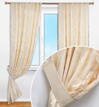 Комплект штор с драпировкой