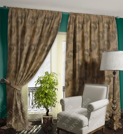 Двусторонняя  коричневая штора