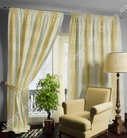 Комплект штор растительный узор, ветка