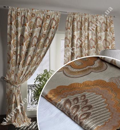 Плотная штора коричневая