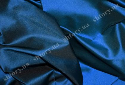 Штора темно-синя з блиском