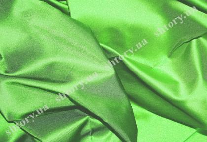 Штора из тафты, зеленая